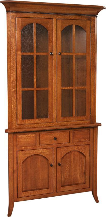 Solid Wood Bunker Hill Mission Corner Hutch From Dutchcrafters