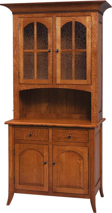 Traditional Bunker Hill Hutch And Buffet From
