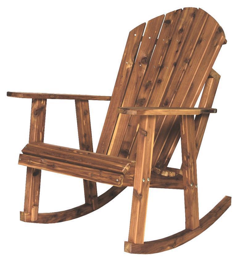 Cedar Adirondack Porch Rocking Chair