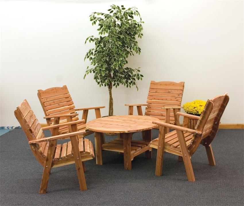 Coffee Table And Chair Sets: Cedar Coffee Table And Chair Set From DutchCrafters Amish
