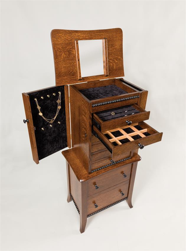 Amish Jewelry Armoire