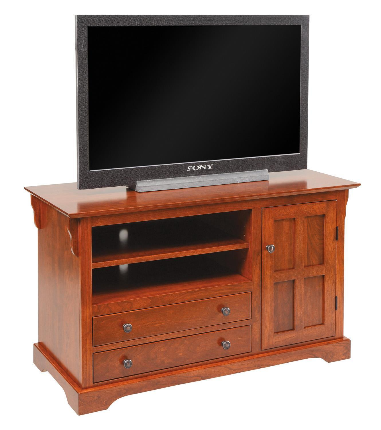 "Amish 45 1/2"" TV Stand With Door And Drawers"
