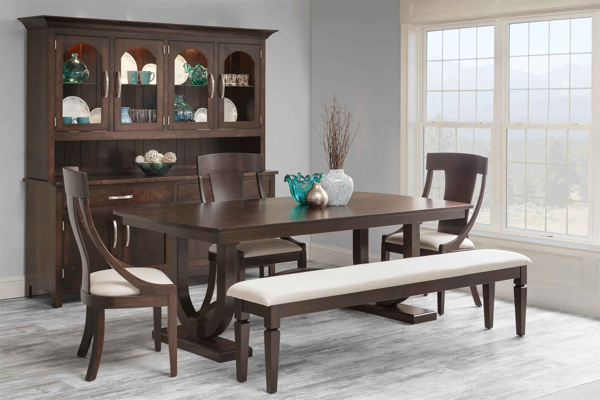 Georgetown Double Trestle Dining Table From DutchCrafters Amish - Double trestle dining table