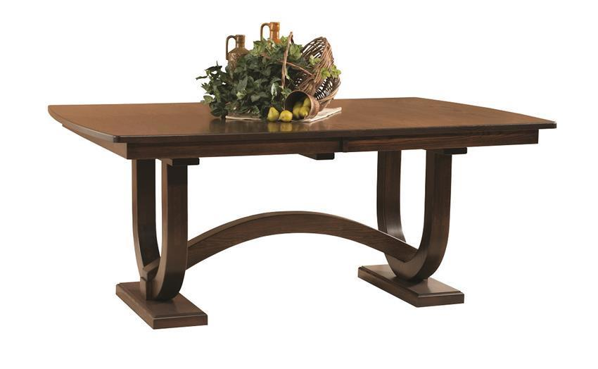 Georgetown Double Trestle Dining Table From DutchCrafters