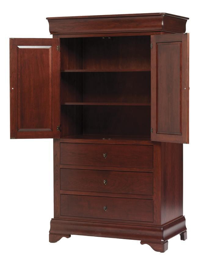Louis Philippe Bedroom Armoire From Dutchcrafters Amish Furniture