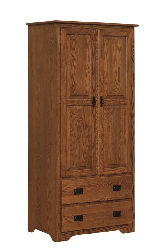Mission Style Hardwood Armoire Wardrobe From Dutchcrafters