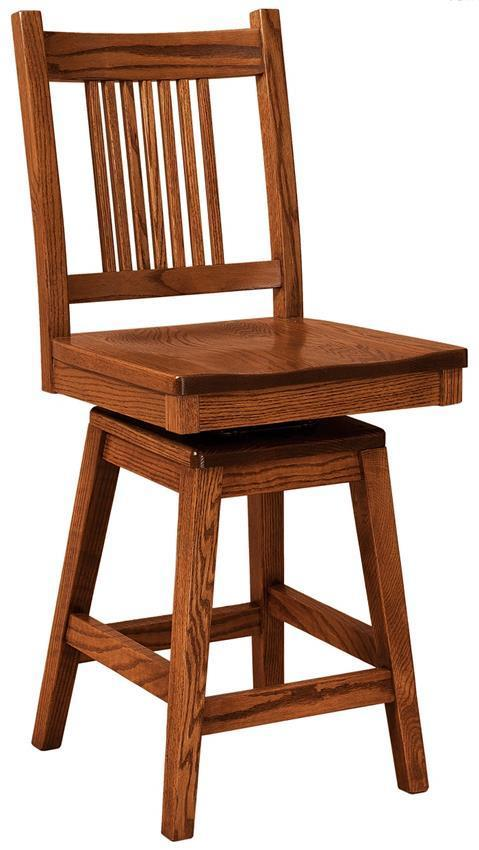 Centennial Mission Swiveling Bar Stool From Dutchcrafters