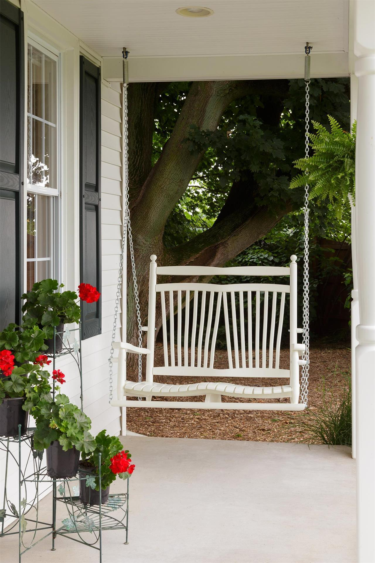 Wood Fanback Porch Swing From Dutchcrafters Amish Furniture