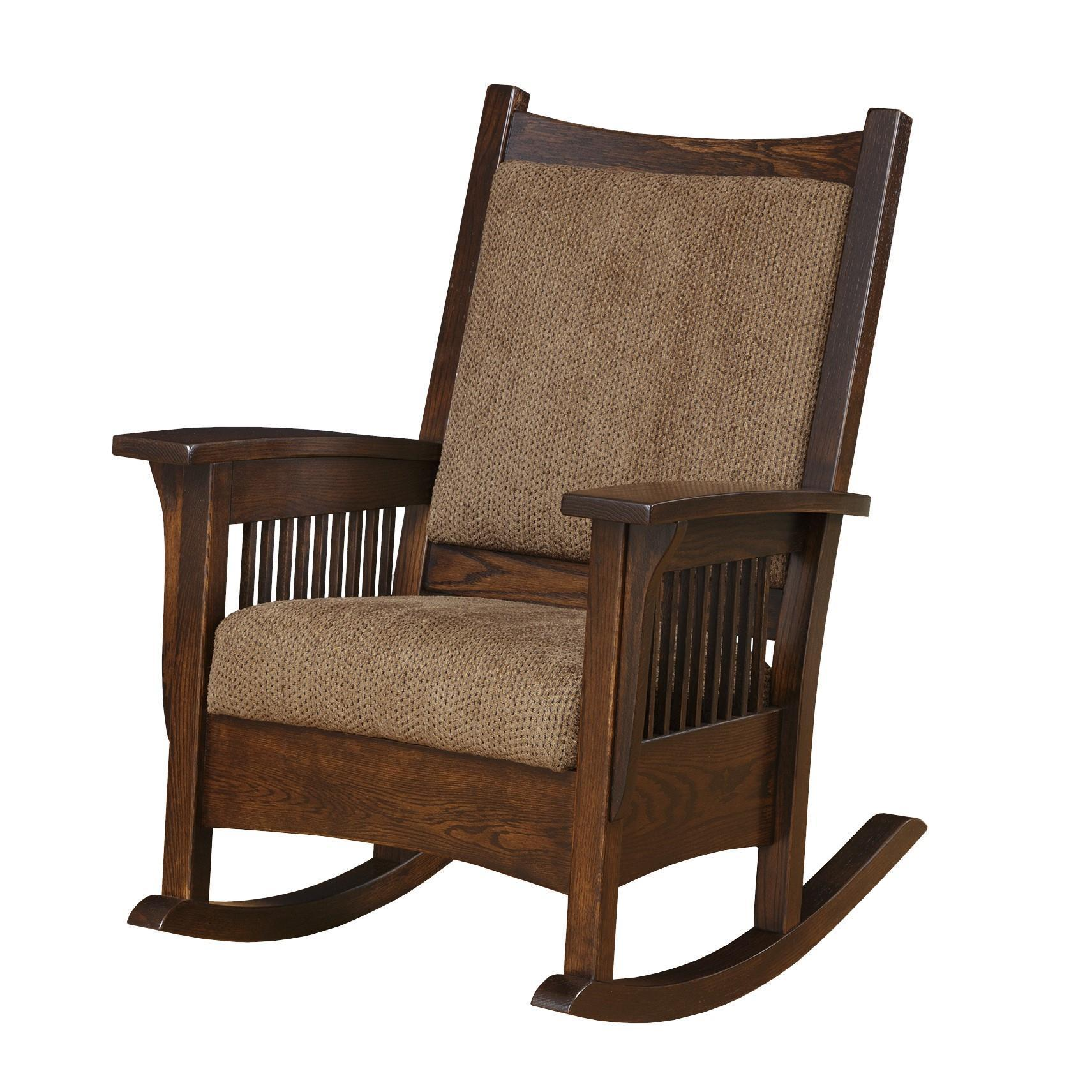 Wondrous Amish Luxury Mission Rocking Chair Cjindustries Chair Design For Home Cjindustriesco