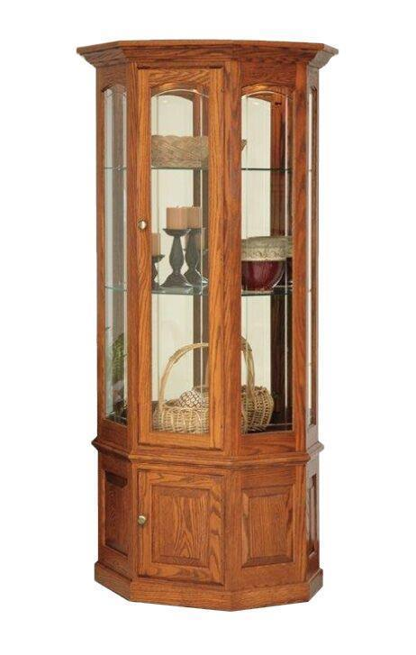 Deluxe Small Wall Curio Cabinet From Dutchcrafters Amish