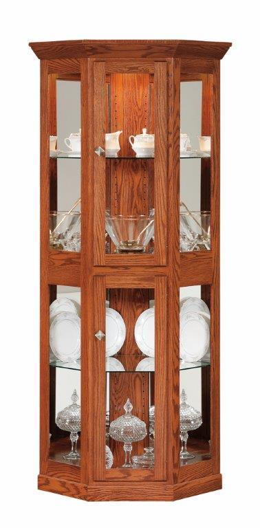 Small Mission Corner Curio Cabinet From Dutchcrafters