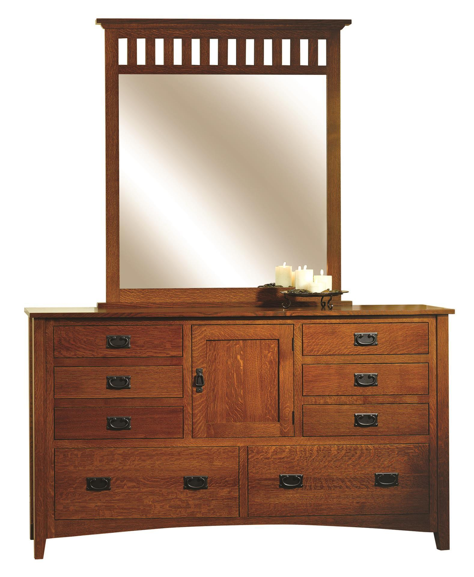 Mission Antique Dresser With Optional