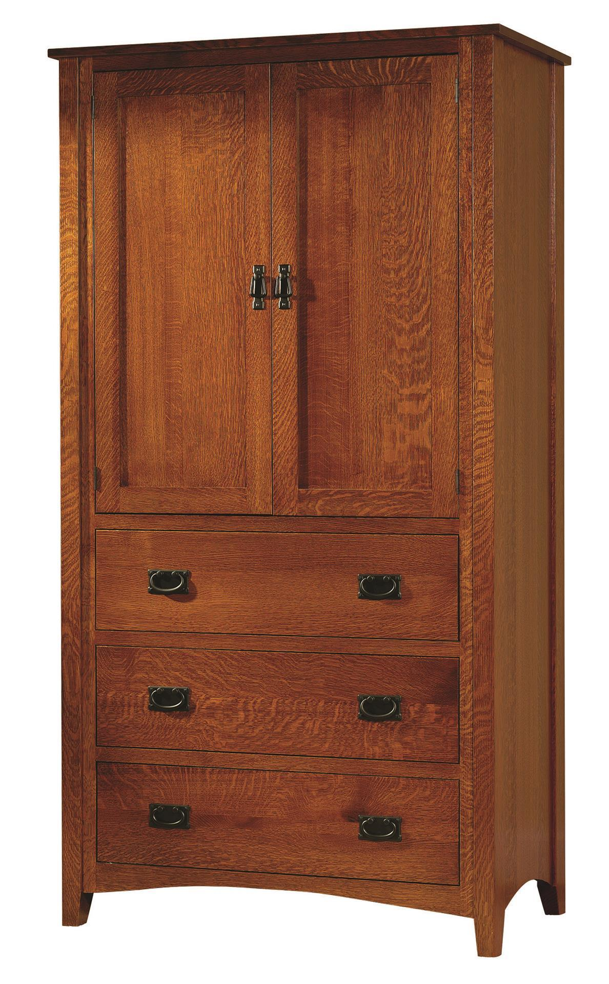 Mission Antique Armoire from DutchCrafters Amish Furniture