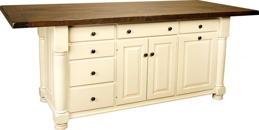 Large Turned Leg Kitchen Island From DutchCrafters Amish