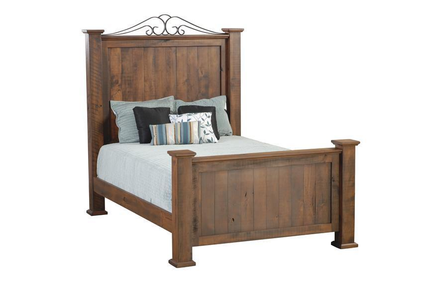 Amish Leihley Hill Rustic Post Bed