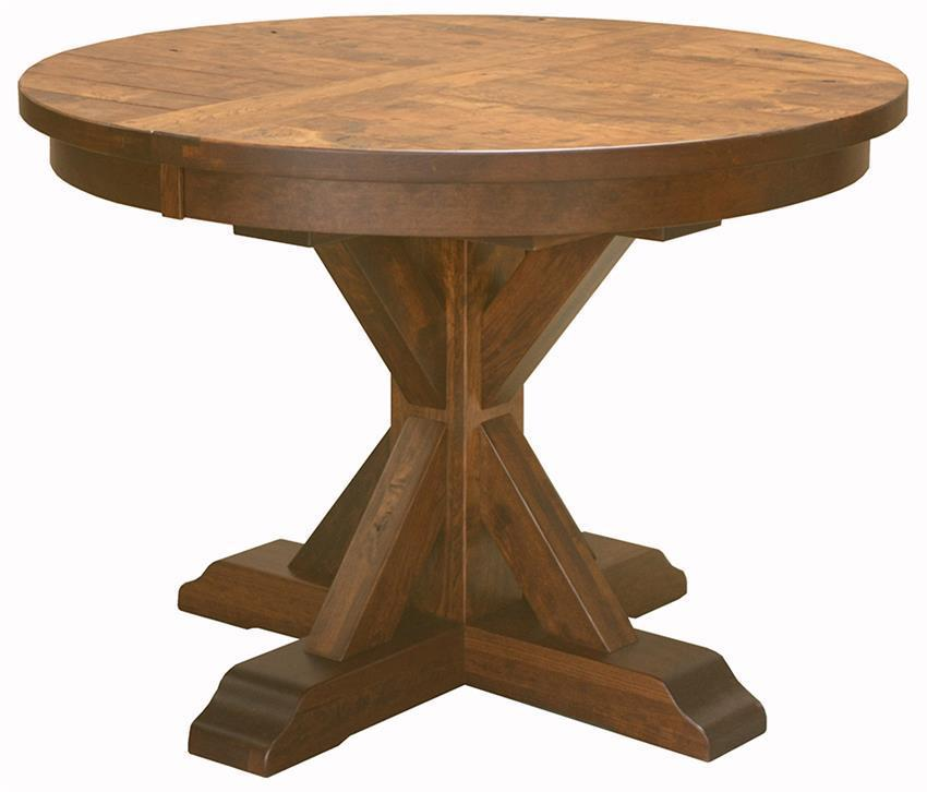 Amish Dining Room Table: Alberta Pedestal Dining Room Table From DutchCrafters