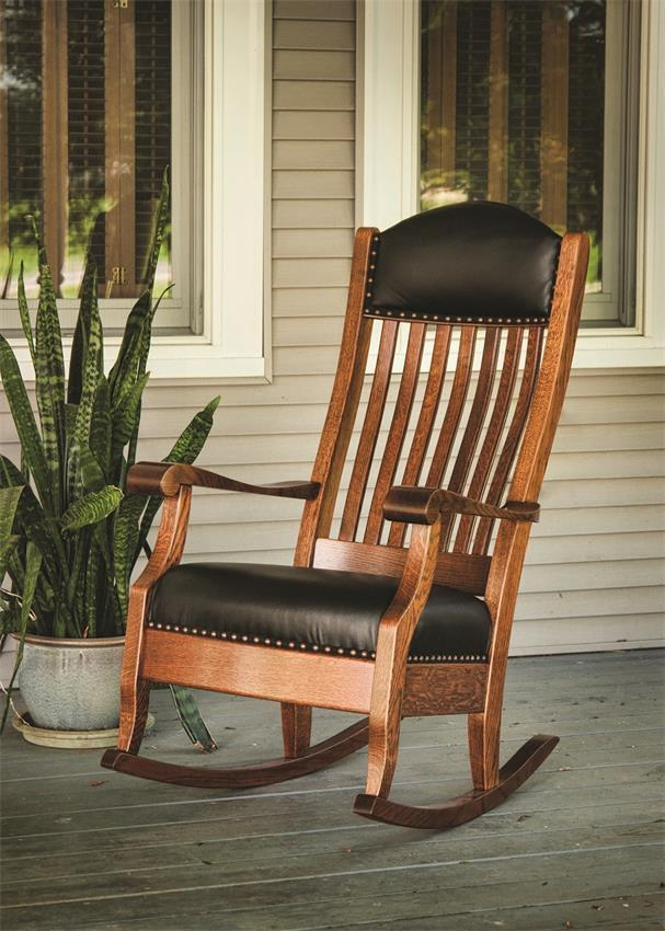 Upholstered Aunties Rocking Chair From Dutchcrafters Amish