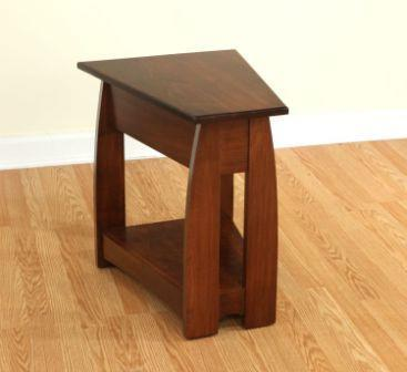 Amish Shaker Wedge End Table