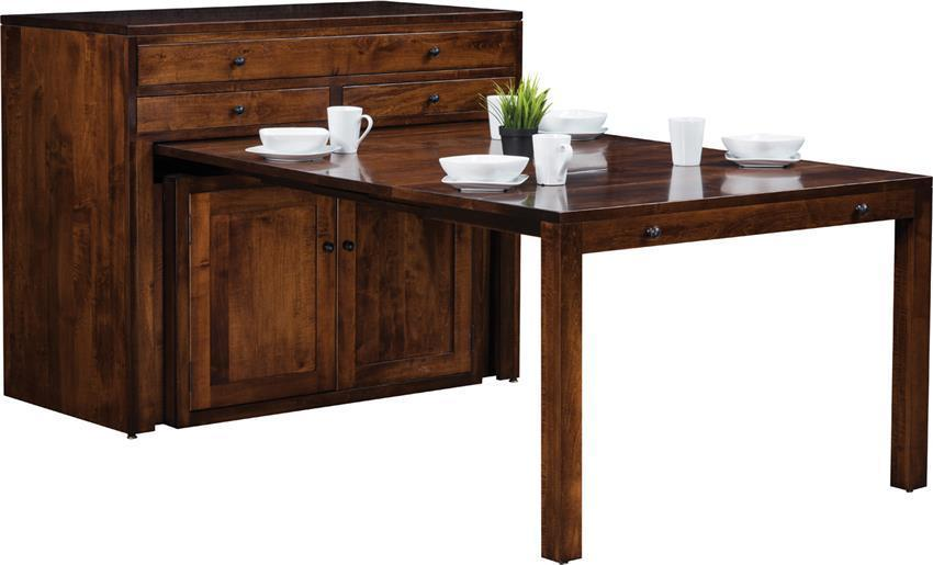 Buffet With Pull Out Dining Table From Dutchcrafters Amish