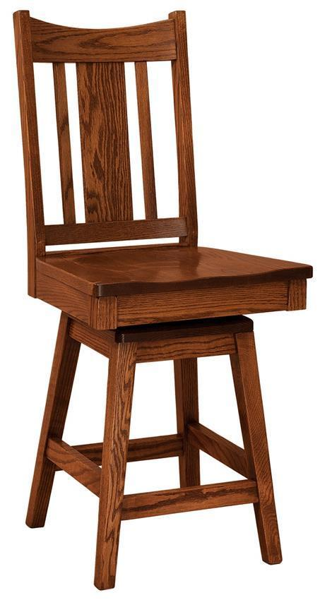 Kodiak Mission Stool With Swivel From Dutchcrafters Amish