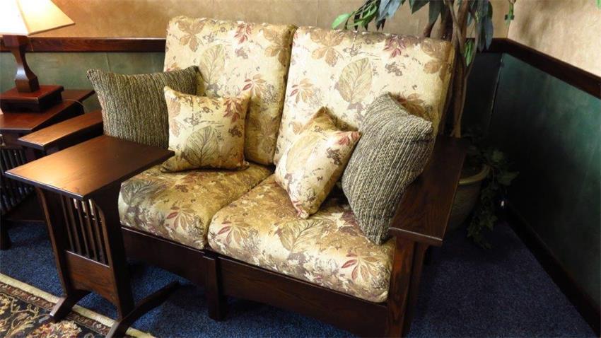 upholstered reclining loveseat