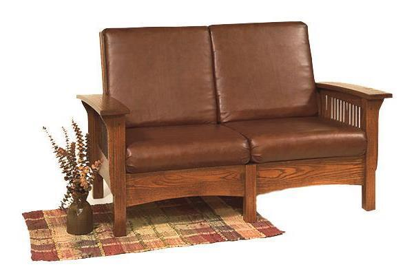 Mission Morris Loveseat From Dutchcrafters Amish Furniture