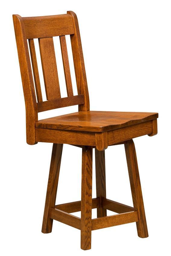 Brookville Mission Bar Stool With Swivel From