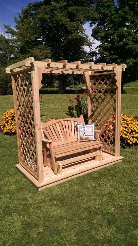 Wooden Garden Arbor From Dutchcrafters Amish Furniture