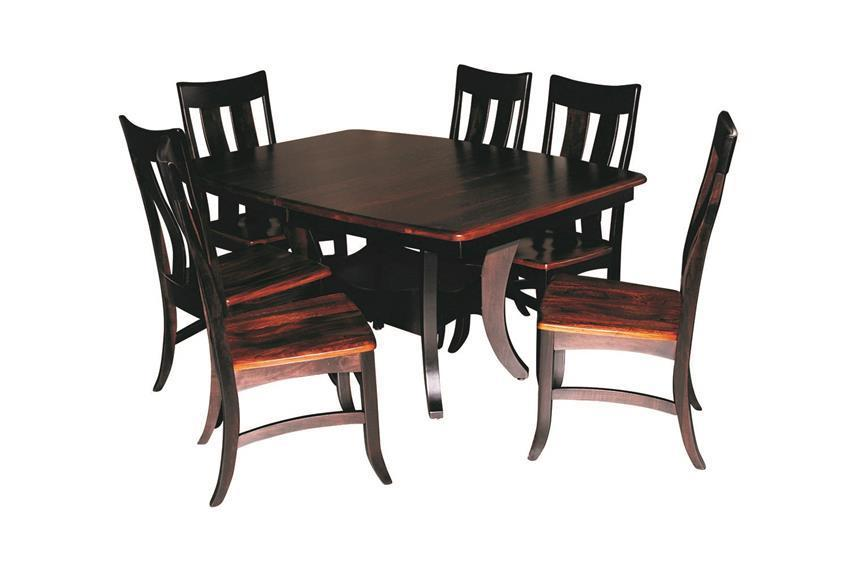 Sierra Dining Table Set Quick Ship, Amish Dining Room Furniture