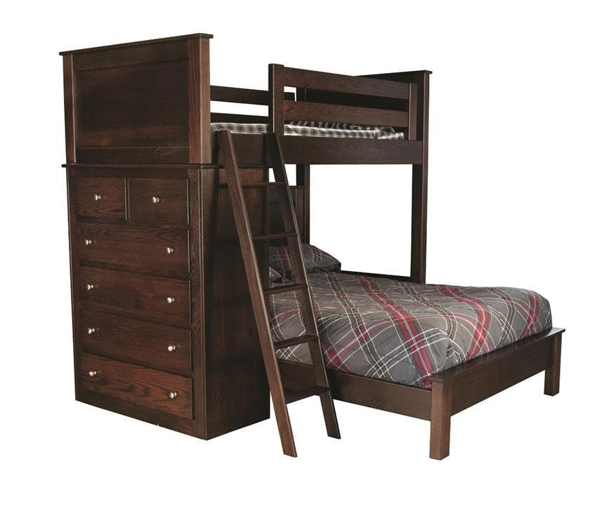 Double Bunk Bed With Drawers From Dutchcrafters Amish