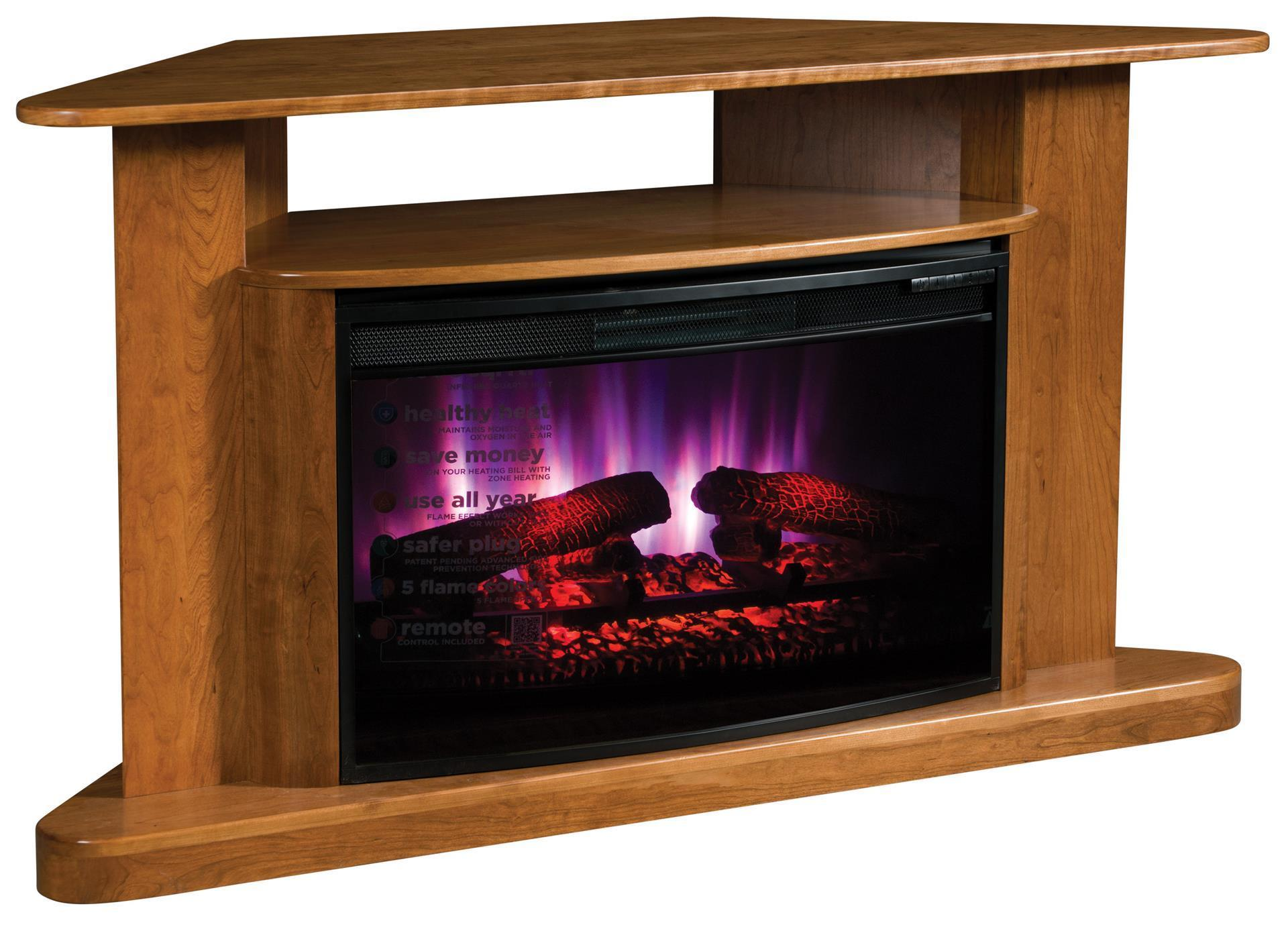 Classic Corner Led Fireplace Tv Stand From Dutchcrafters Amish