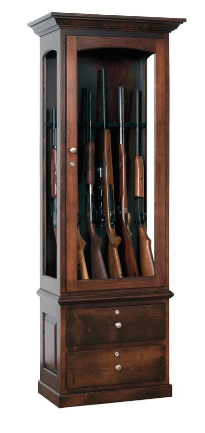 Amish Handcrafted Heirloom Gun Cabinet By Dutchcrafters Amish