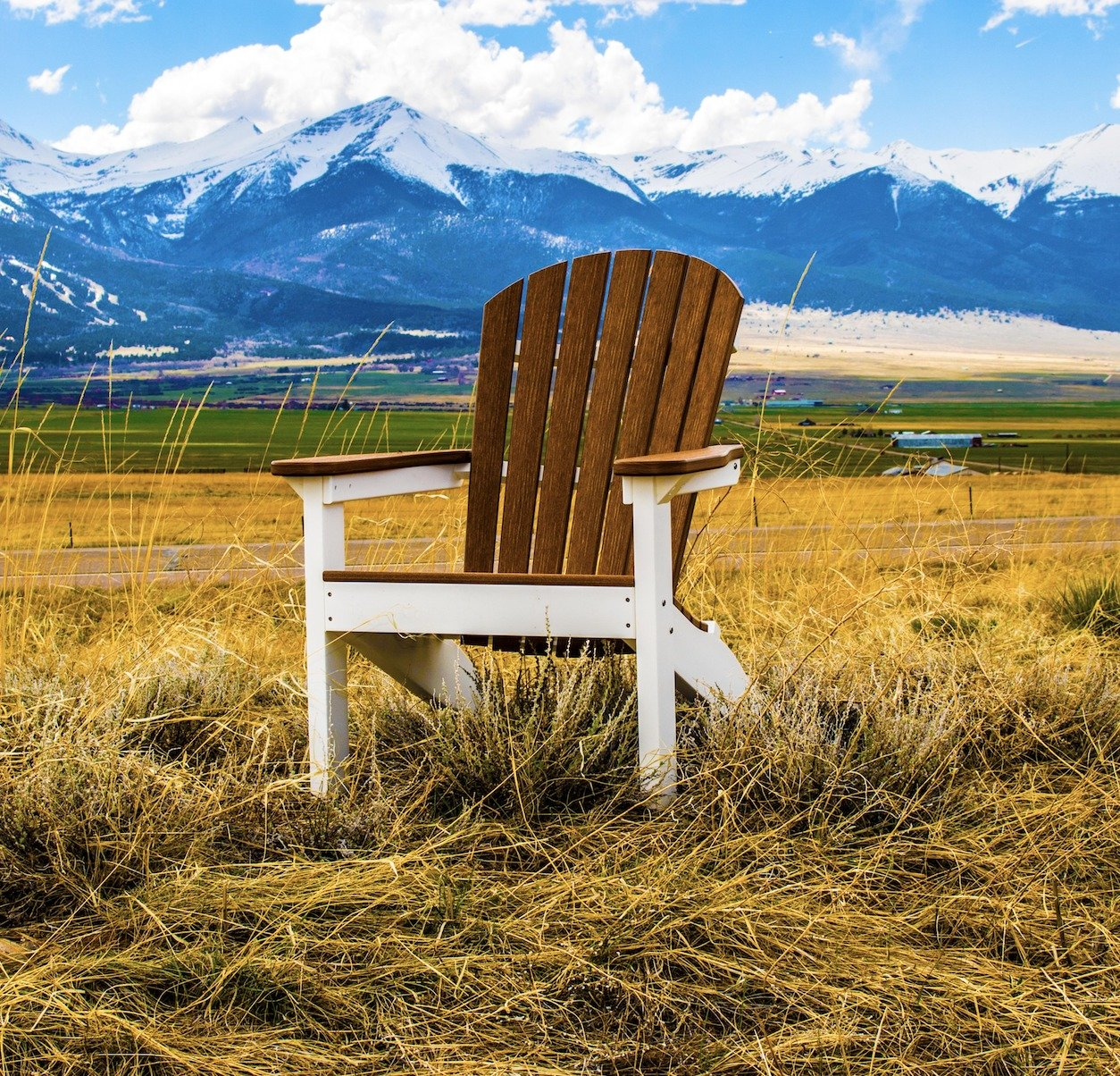 Berlin Gardens Natural Finish Poly Adirondack Chairs From
