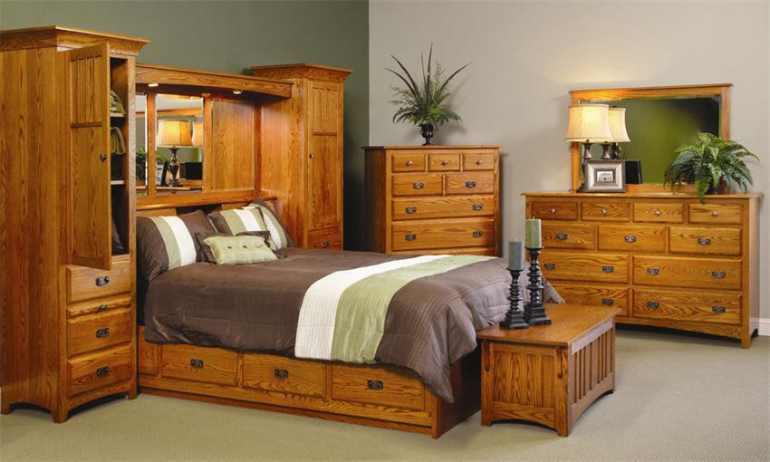 Mission Pier Four Piece Master Bedroom Set From