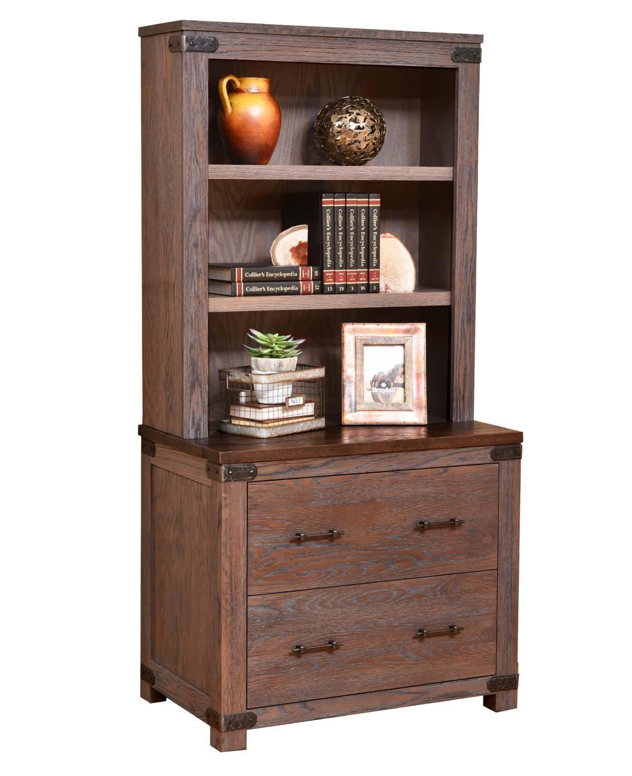 Georgetown Lateral File Cabinet With Optional Hutch Top From