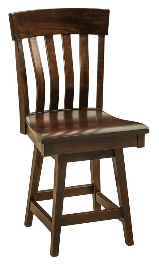 Galena Mission Bar Stool With Swivel From Dutchcrafters Amish