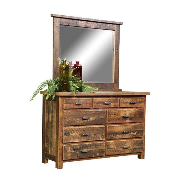 Reclaimed Wood Farmhouse Dresser With Mirror From