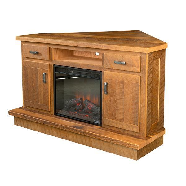 Reclaimed Barnwood Corner Tv Stand From Dutchcrafters