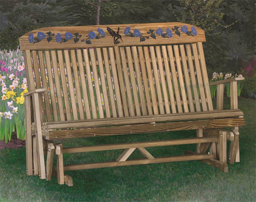 Wondrous Luxcraft Hummingbird Garden Glider Andrewgaddart Wooden Chair Designs For Living Room Andrewgaddartcom
