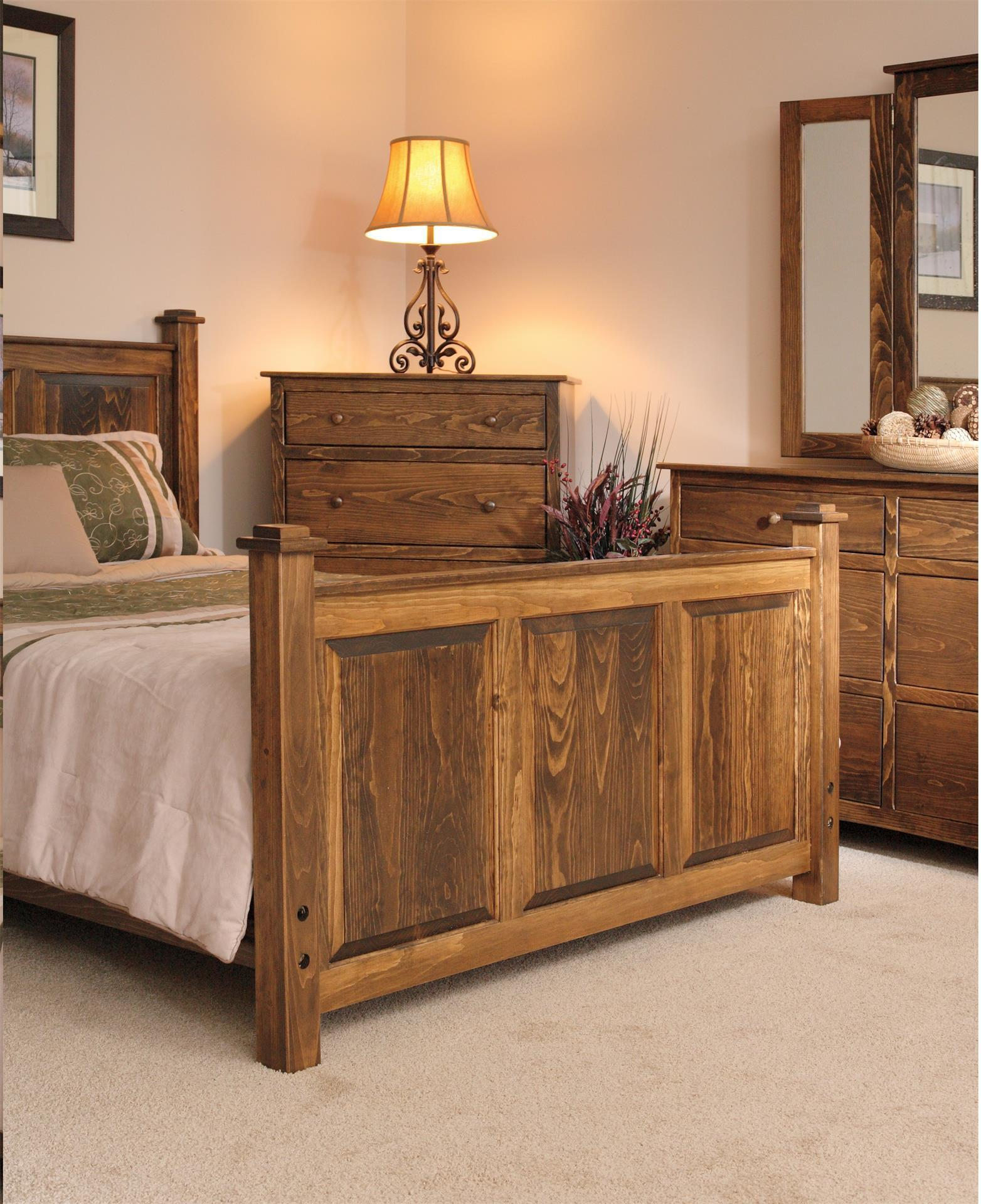 Wood Pine Bedroom Furniture from DutchCrafters Amish Furniture