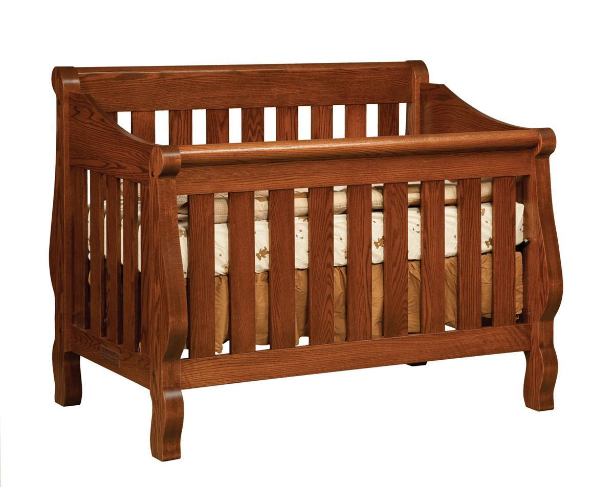 - Manchester Sleigh Convertible Crib From DutchCrafters Amish Furniture