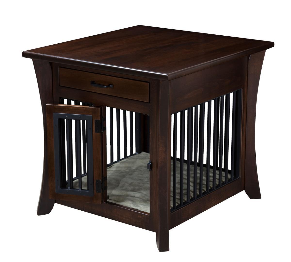 Amish Caledonia Wooden Pet Crate End Table