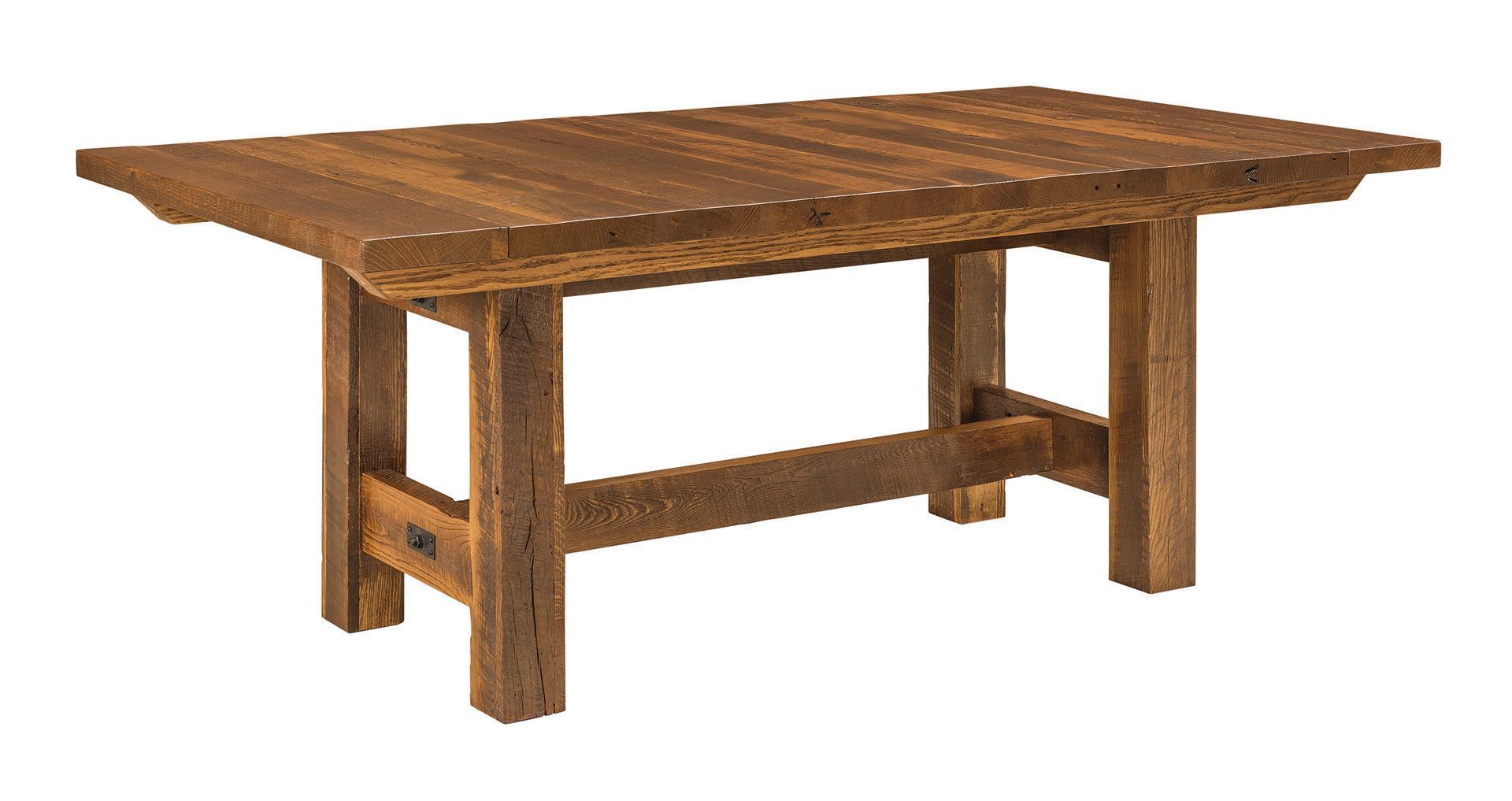 Lynchburg Reclaimed Barnwood Trestle Dining Table