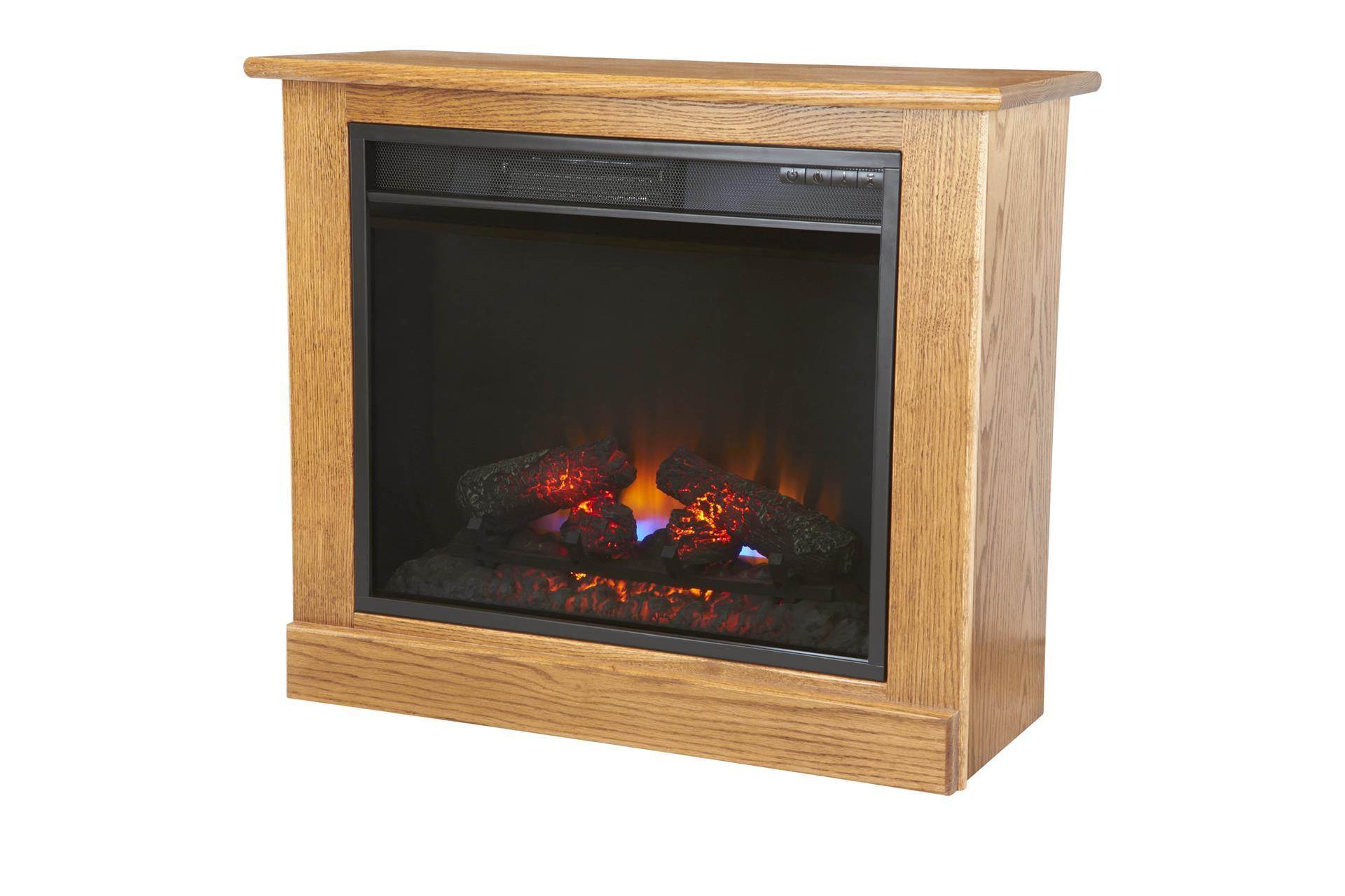 Portable Fireplace Heater On Casters From Dutchcrafters Amish