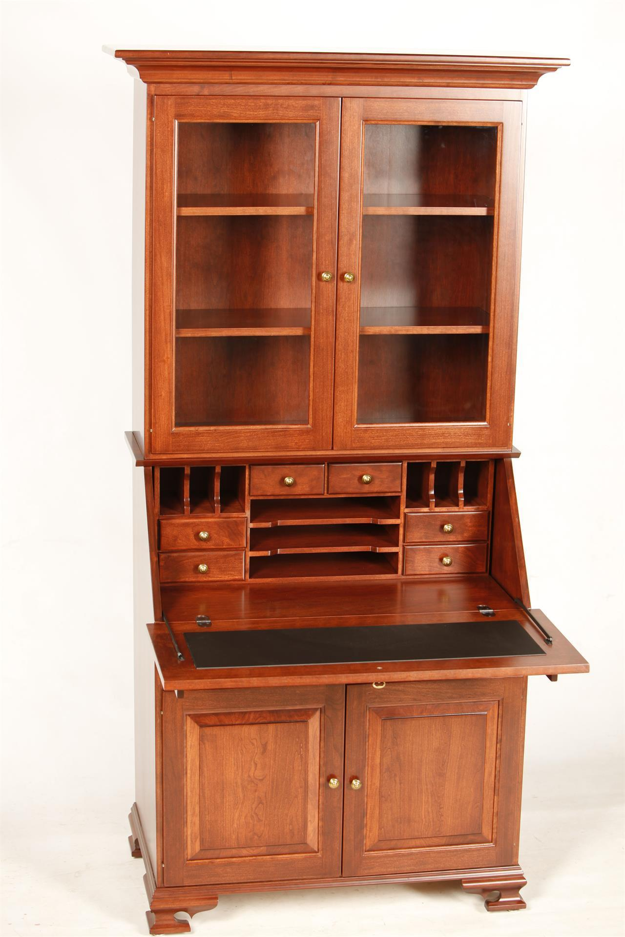 Glenmont Solid Wood Secretary Desk With Hutch Top From Dutchcrafters