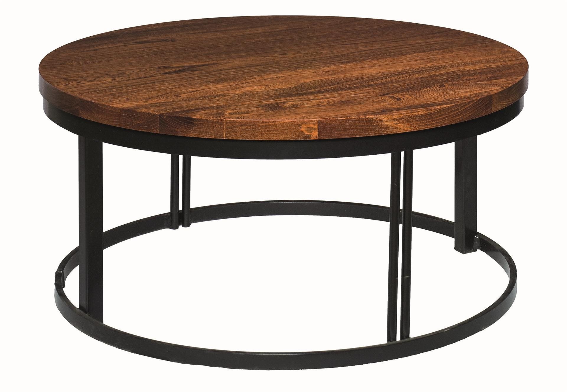 Malibu Round Coffee Table From Dutchcrafters Amish Furniture