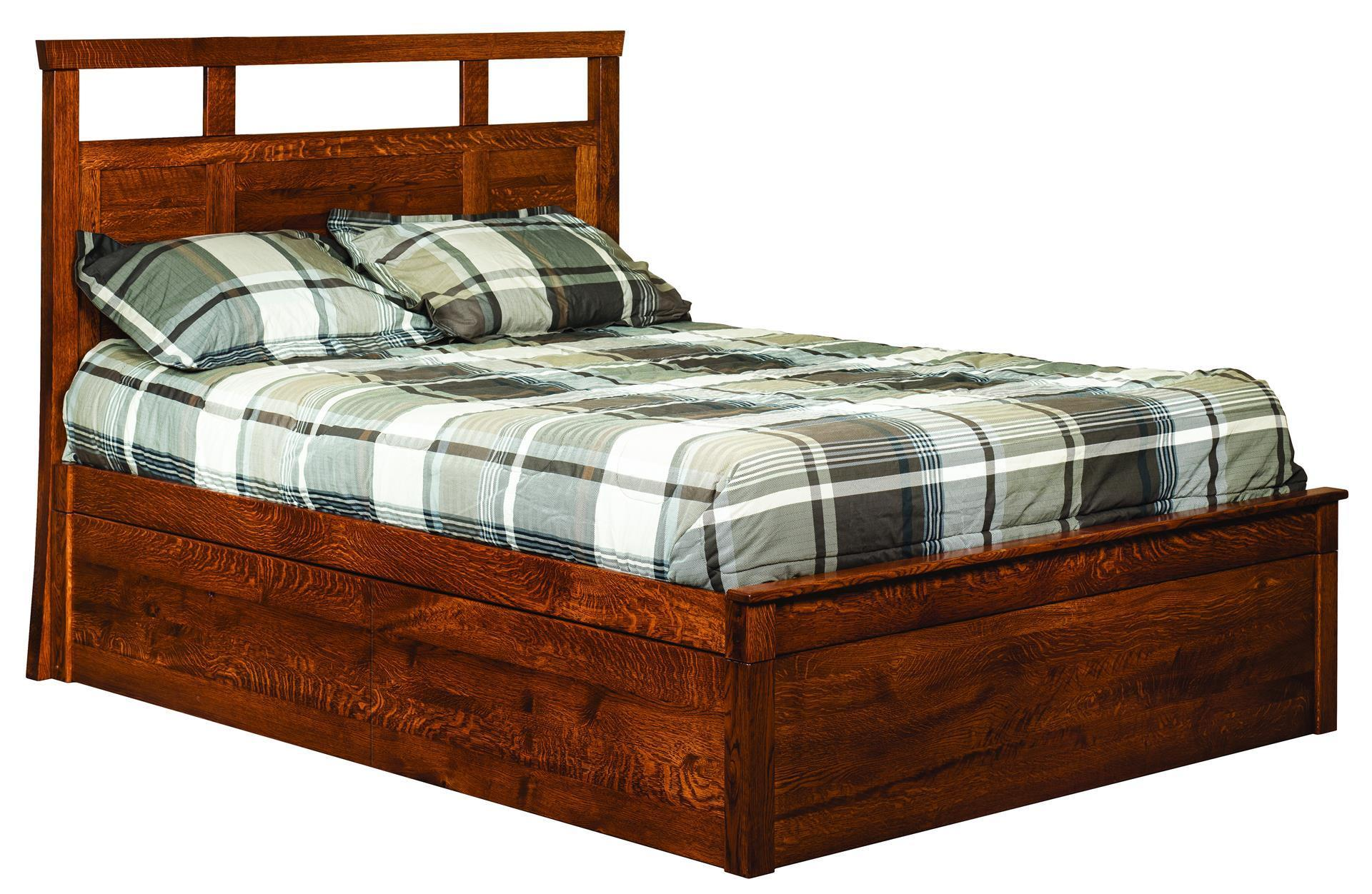 Stone creek platform lift storage bed from dutchcrafters amish - Lift up storage bed ...