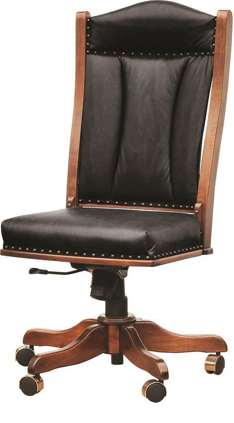 Armless Office Chair From Dutchcrafters, Armless Office Chair