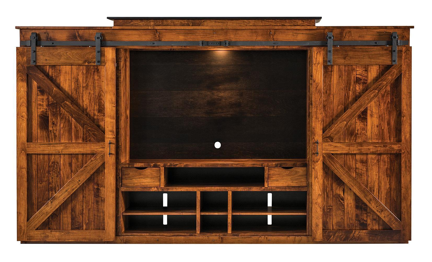 Sliding Door Entertainment Center From Dutchcrafters