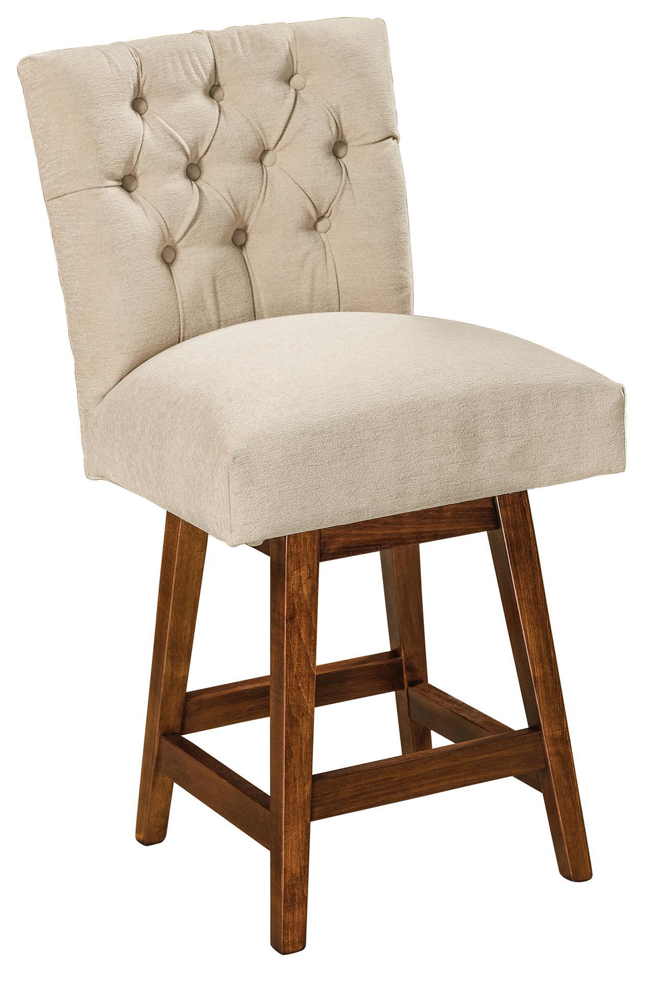 Alana Swivel Parsons Bar Stool From Dutchcrafters Amish